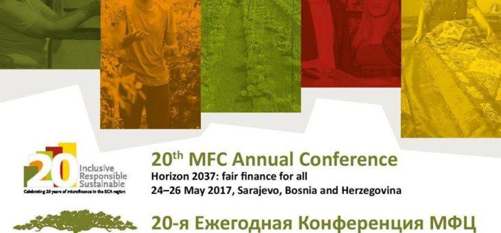Τα Κέντρα Υπηρεσιών Επιχειρηματικής Ανάπτυξης microSTARS ταξιδεύουν με προορισμό το 20ο ετήσιο συνέδριο του Microfinance Centre (MFC) στο Σεράγεβο,  23 – 26 Μαϊου 2017